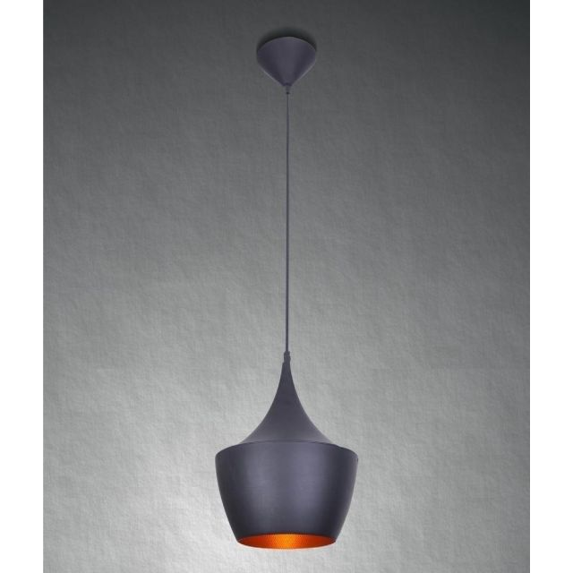 AZzardo AZ1406 Orient 1 Light Ceiling Pendant In Black And Gold