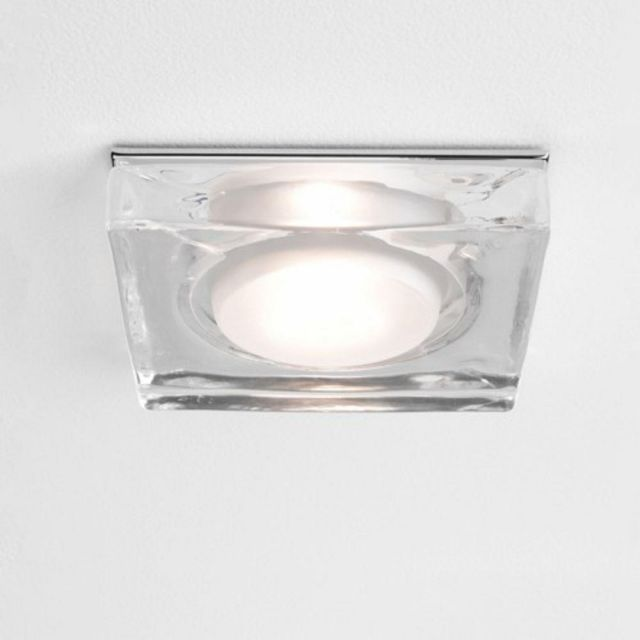 Astro 1229004 Vancouver Square Ceiling Recessed Downlight With Glass Finish