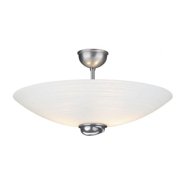 David Hunt Lighting SWF5867 Swirl 2 Light Semi Flush Ceiling Light In Pewter