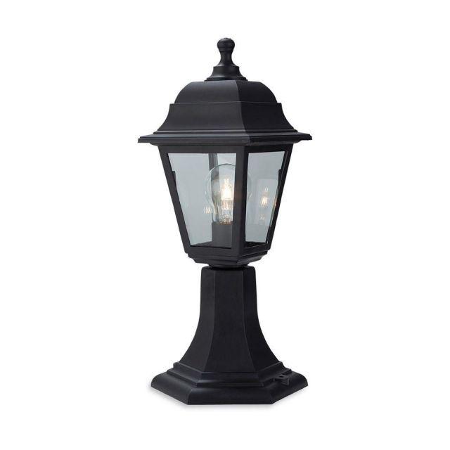 Firstlight 8347 Oslo Pillar Light In Black Resin