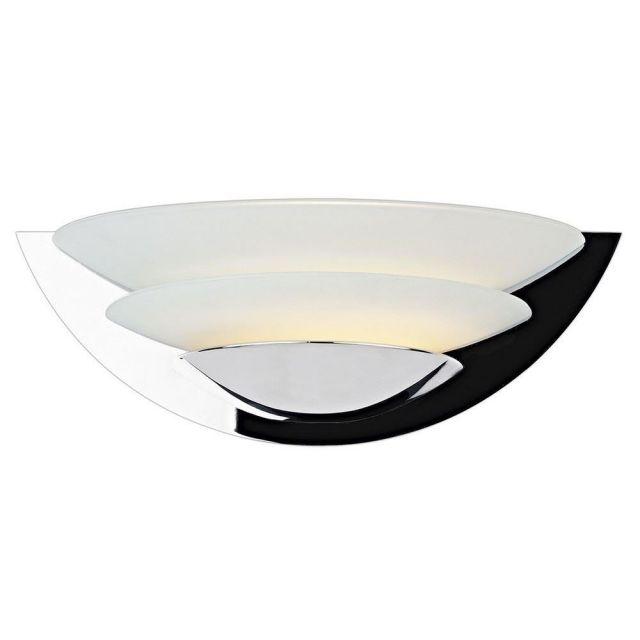 Dar UNA0750 Una 1 Light Chrome 2 Disc Wall Light