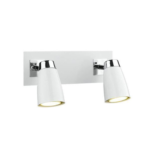 Dar LOF772 Loft 2 Light Spotlight Wall Bracket With White Finish