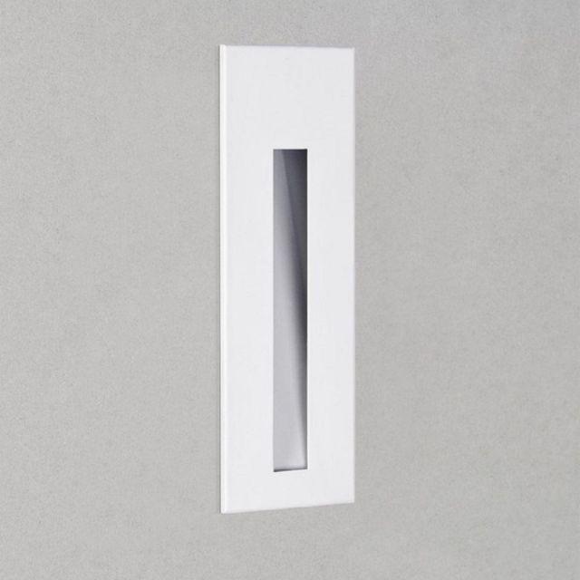 Astro 1212031 Borgo One Light LED Recessed Wall Light In White, 2700K - H: 133mm