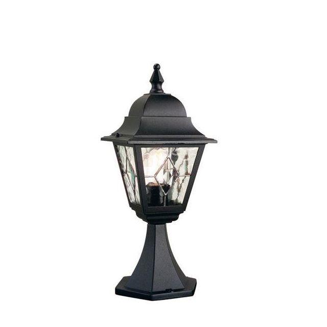 Elstead NR3 Norfolk period, black exterior pedestal lantern, IP43