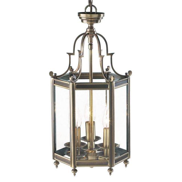 Dar MOO0375 Moorgate Antique Brass Lantern