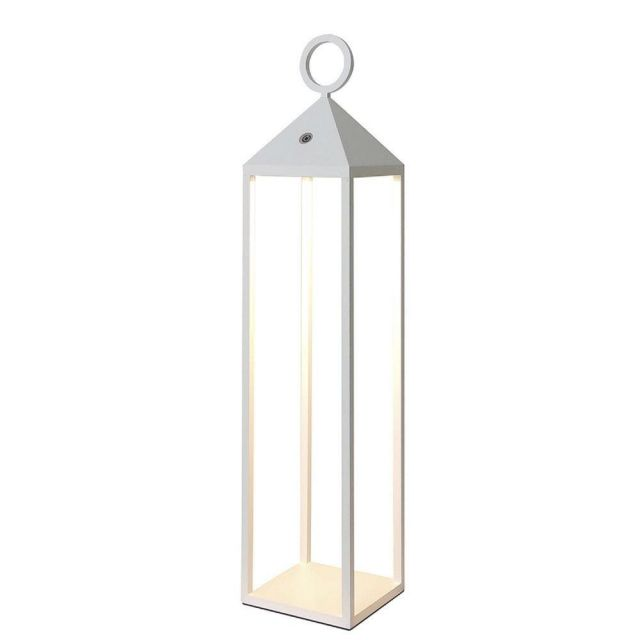 Mantra M6906 Astun Outdoor Large LED Lantern In White - H: 670mm