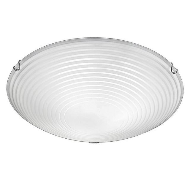 C5667 Large Frosted Glass Flush Ceiling Light