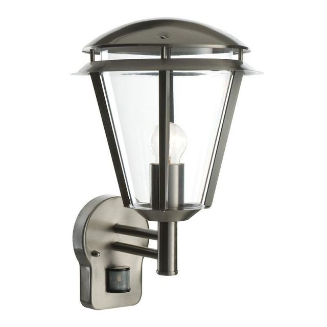 Saxby 49945 Inova PIR Outdoor Wall Light in Brushed Stainless Steel IP44