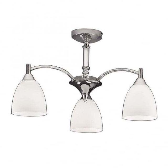 F2087/3 3 Light Chrome Semi-Flush Ceiling Light