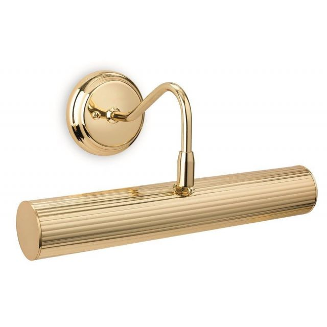 Firstlight 7651BR Reeded Picture Light In Polished Brass - 2 Light