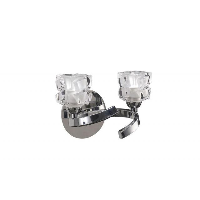 Mantra M1844/S Ice 2 Light Switched Wall Light In Chrome