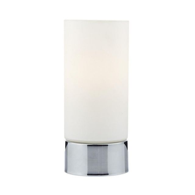 JOT4050 JOT Polished Chrome and Opal Glass Touch Table Lamp