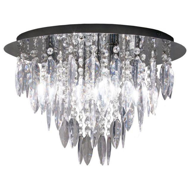Dallas 5 Light Round Flush Ceiling Chandelier