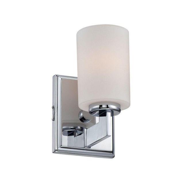 QZ/TAYLOR1S BATH Taylor 1 Light Small Bathroom Wall Light In Polished Chrome