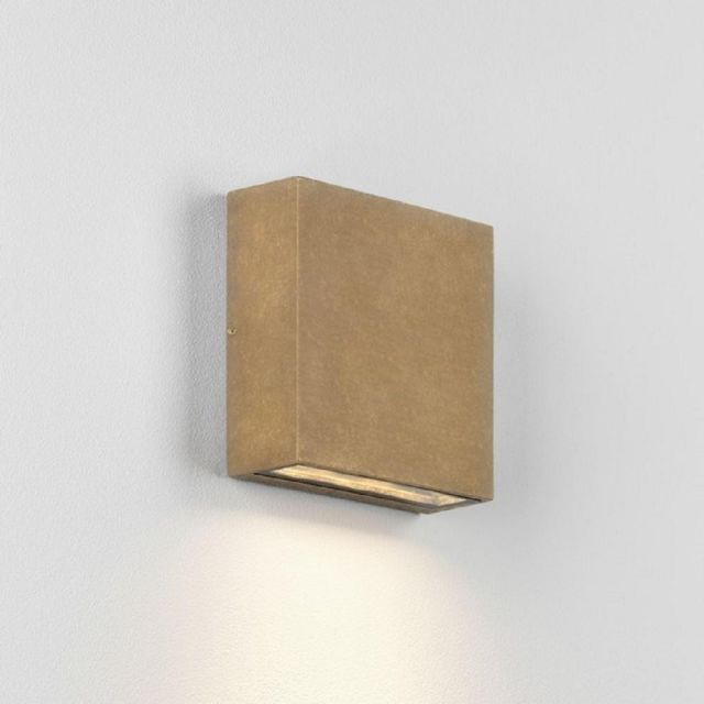 Astro 1331005 Elis One Light Outdoor Wall Light In Antique Brass