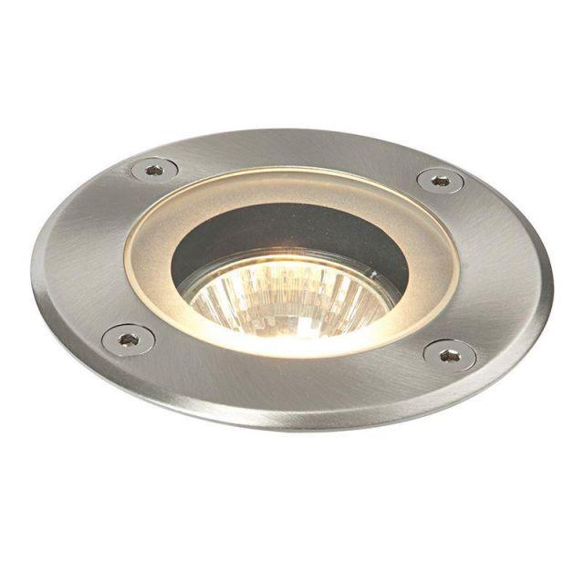 Saxby 52212 Pillar Round Outdoor Floor Light Stainless Steel IP44