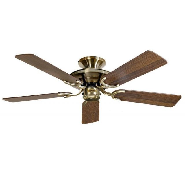 Fantasia 110057 Mayfair 42 In Ceiling Fan In Antique Brass With Reversible Blades