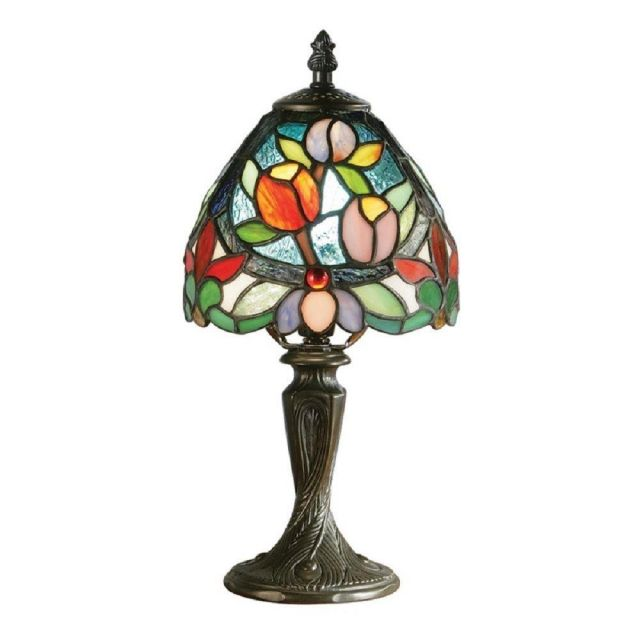 Interiors 1900 64331 Sylvette Tiffany Mini Table Lamp With Shade: Height - 310mm