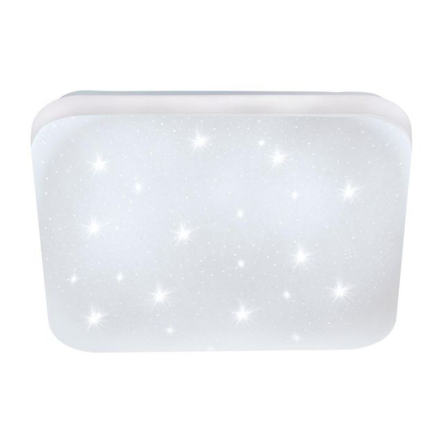 Eglo 97881 Frania-S Square LED Wall/Ceiling Light In White With Crystal - L: 280mm