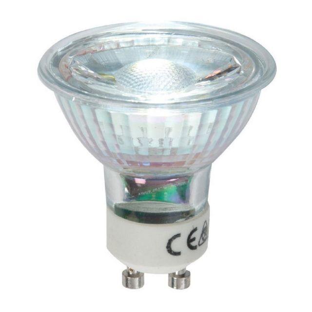 High Quality 5.5 watt LED GU10 Cool White, Glass Body