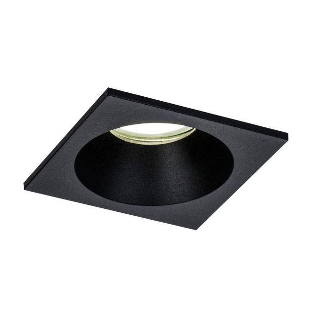 Mantra M6813 Comfort IP 1 Light Square Bathroom Downlight In Matt Black