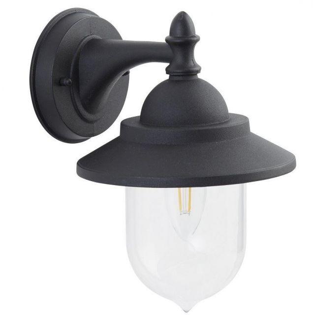 Modern Black IP44 Outdoor Exterior Wall Light Lantern