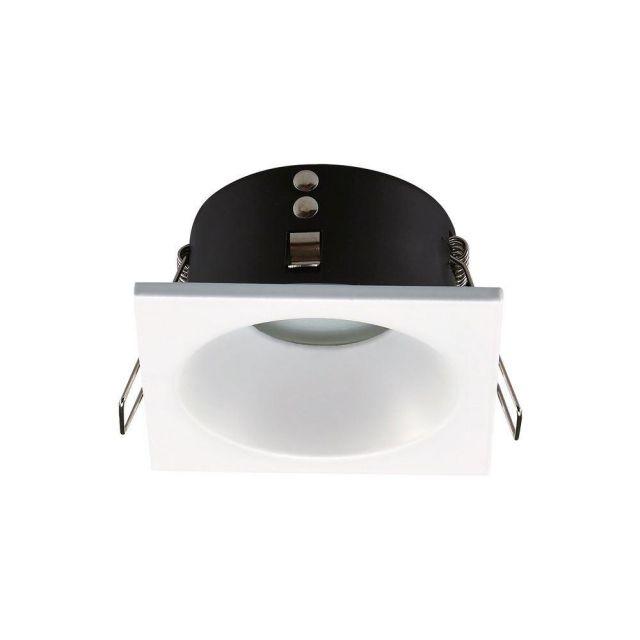 Mantra M6812 Comfort IP 1 Light Square Bathroom Downlight In Matt White