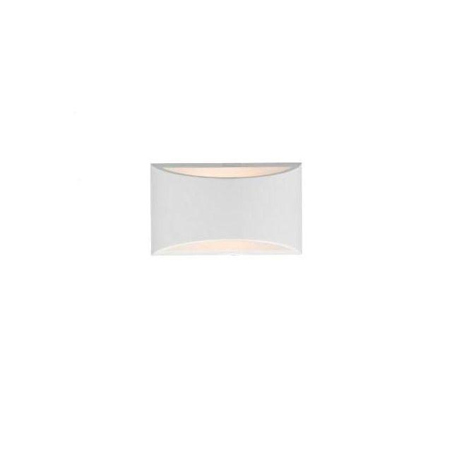 Dar HOV072 Hove White Plaster 1 Light Small Wall Light