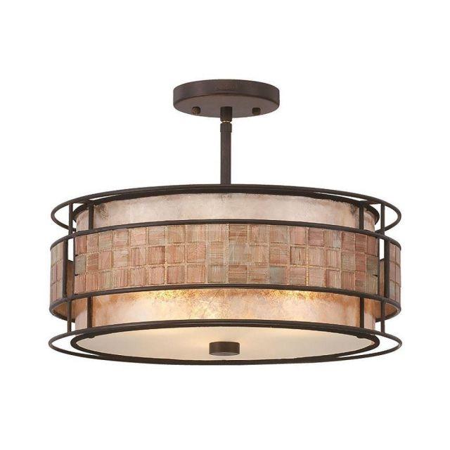 QZ/LAGUNA/SF 3 Light Renaissance Copper Semi Flush Light