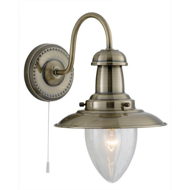 Searchlight 5331-1AB Fisherman 1 Light Wall Light In Antique Brass
