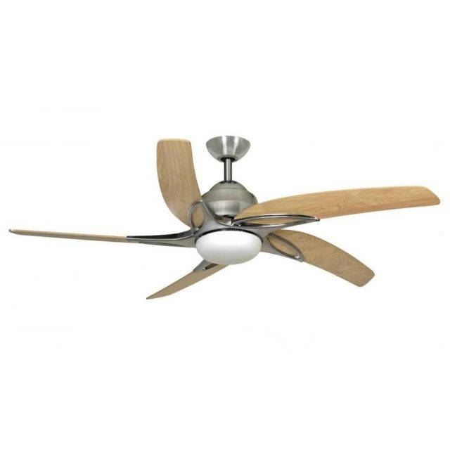 Fantasia 115687 Viper 54 Inch Stainless Steel Fan With Maple Blades And LED Light