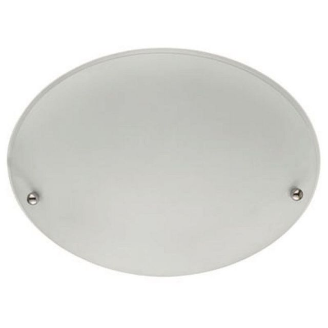 Searchlight 3165-30 White Round Flush Ceiling Light With Frosted Glass