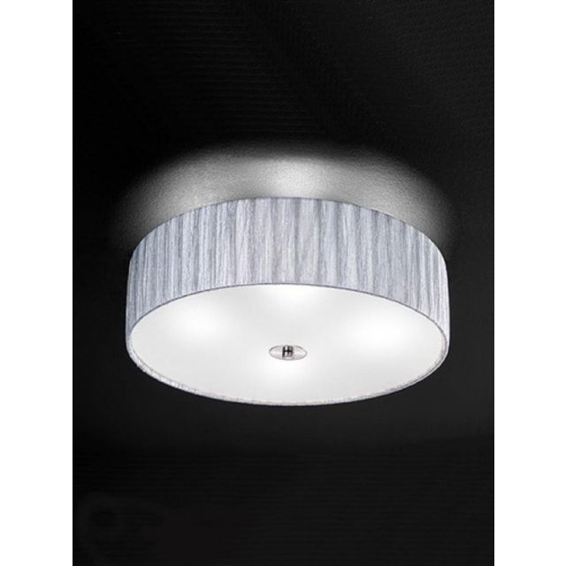 F2283/4 Large Satin Nickel and Silver Flush Ceiling Light