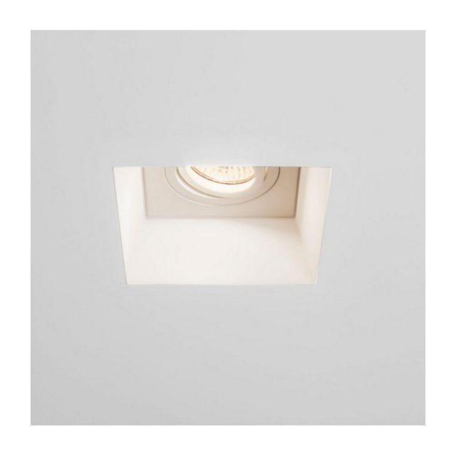 Astro 1253007 Blanco Square Adjustable Downlight in White Plaster Finish