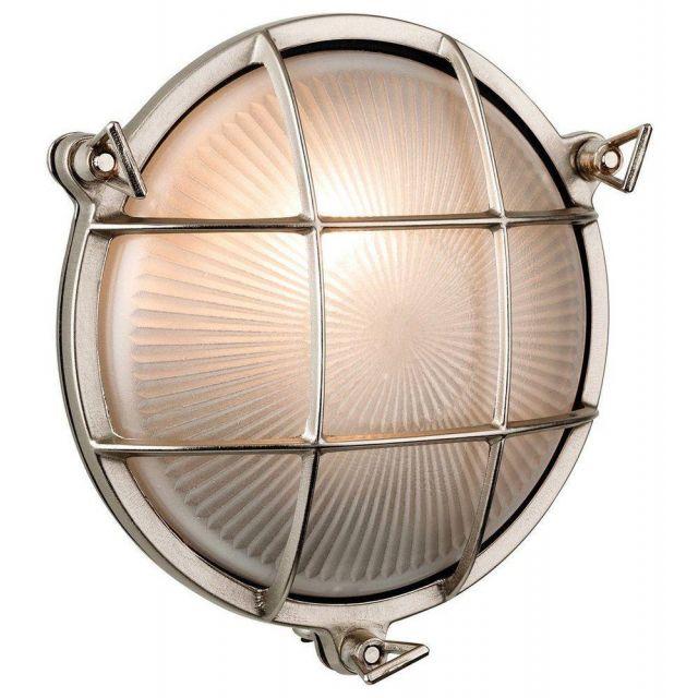 Firstlight 3434NC Nautic Nickel Finish Solid Brass Outdoor Bulkhead Light  - 7 Only