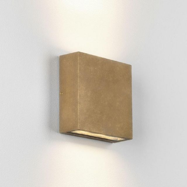 Astro 1331006 Elis Twin Outdoor Wall Light In Antique Brass