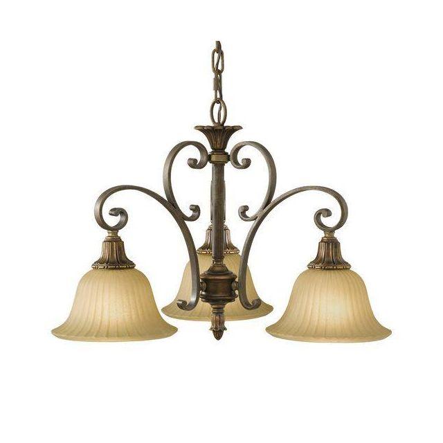 FE/KELHALLDN3LT Kelham 3 Light Firenze Bronze Chandelier