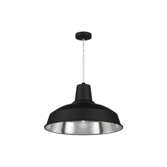 David Hunt Lighting REC0121 Reclamation 1 Light Ceiling Pendant Light In Black And Chrome
