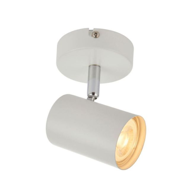 Saxby 73684 Arezzo One Light Plate Ceiling Or Wall Spotlight In White