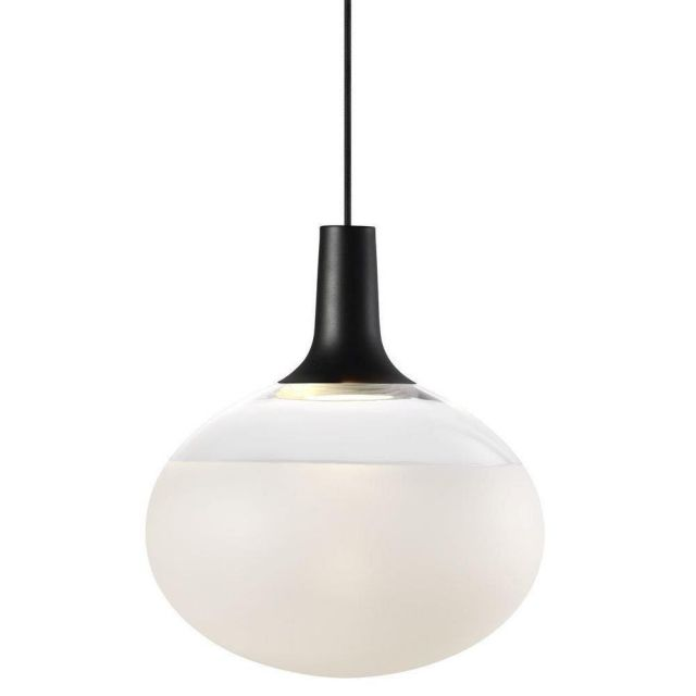 Nordlux 84413003 Dee 2.0 Ceiling Pendant Light In Black With Frosted Glass - Dia: 350mm