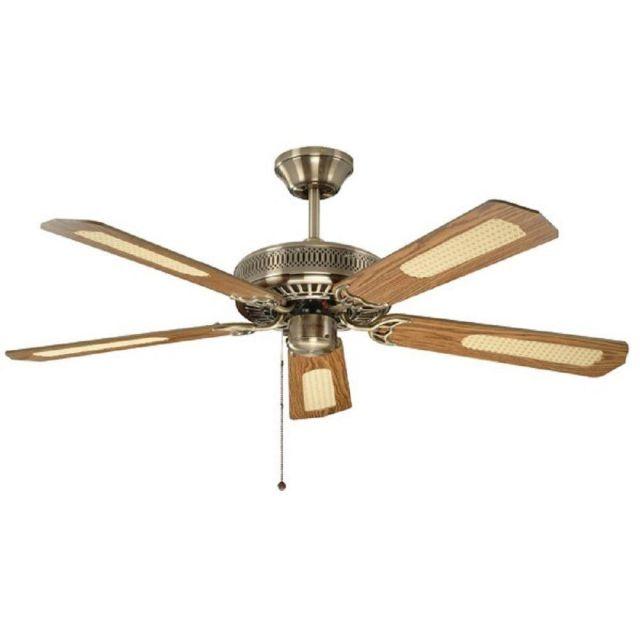 "FANTASIA 110224 Classic 52"" Ceiling Fan In Antique Brass"