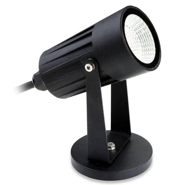 Firstlight 4907BK LED Wall/Floor Spotlight In Black - Optional Spike