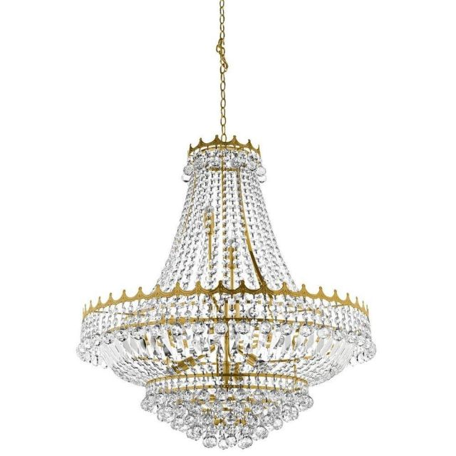Searchlight 9112-82GO Versailles 13 Light Crystal Chandelier Gold Finish