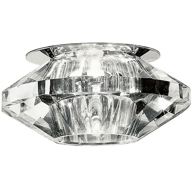 REC241 Recessed Downlight In Chrome And Crystal