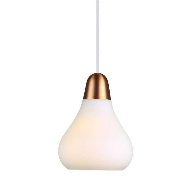 Nordlux 78163030 Bloom 16 1 Light Small Ceiling Pendant In Opal White - Dia: 160mm