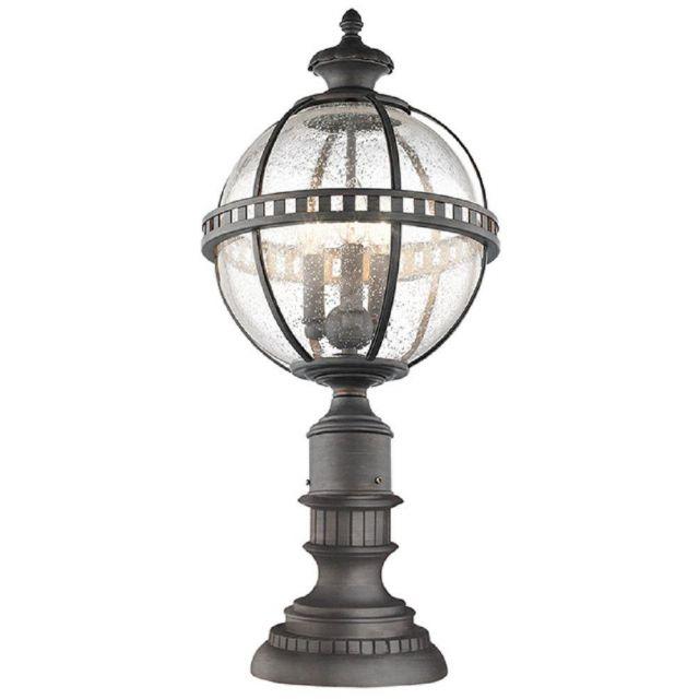 KL/HALLERON/3M Halleron 3 Light Pedastal Lantern In Londonderry