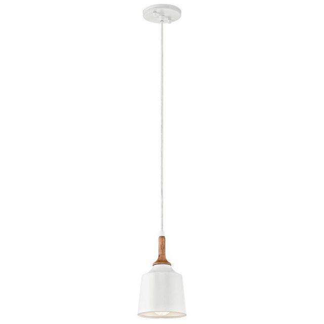 KL/DANIKA/MP Danika 1 Light Mini Pendant Ceiling Light In White