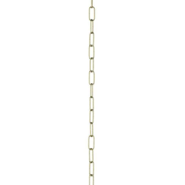 Dar ACC24 Polished Brass 50cm Chain