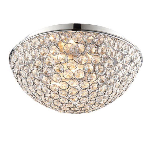 Endon 60103 Chryla Crystal Bathroom Ceiling Flush Light IP44