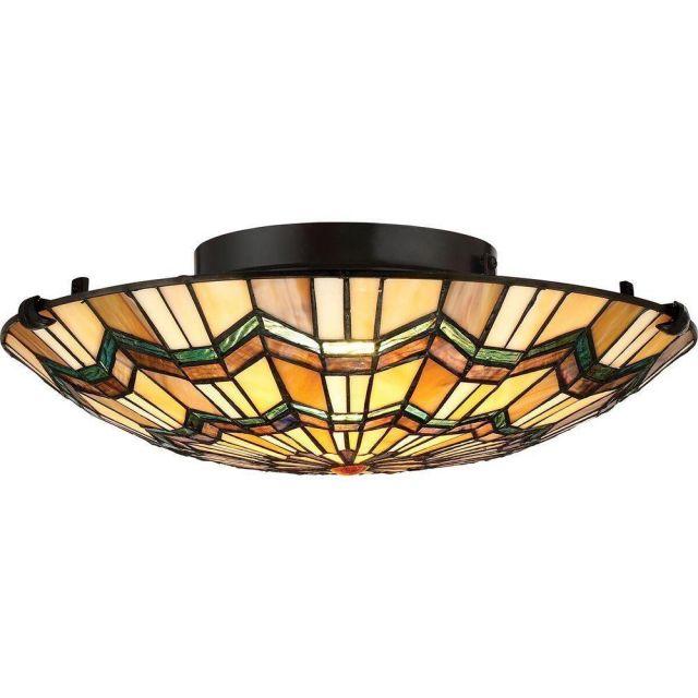QZ/ALCOTT/F Alcott 2 Light Flush Ceiling Light In Valiant Bronze